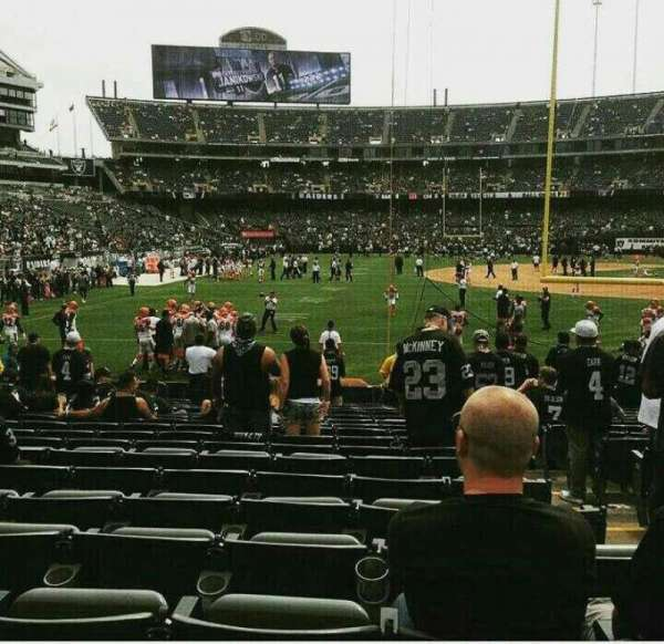 Oakland Alameda Coliseum, section: 129, rangée: 19