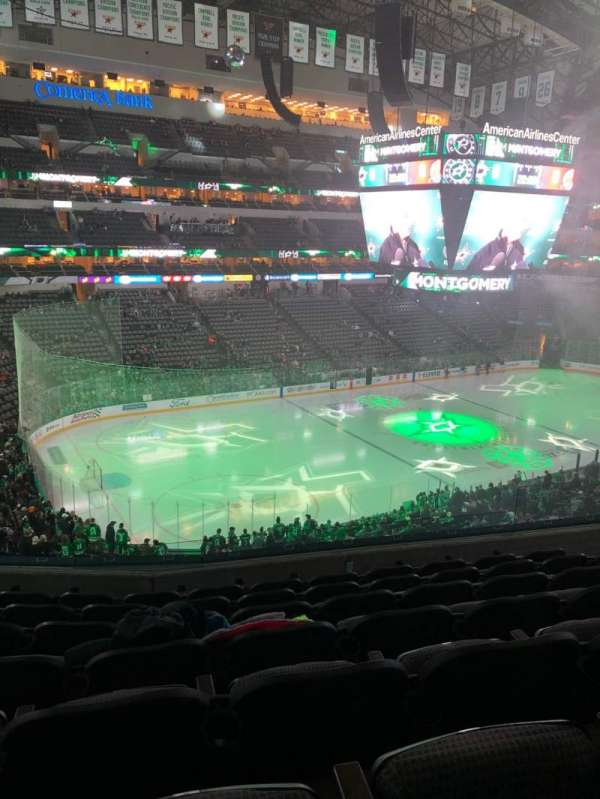 American Airlines Center, section: 221, rangée: G, siège: 8