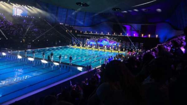 London Aquatics Centre, section: F, rangée: 8, siège: 163