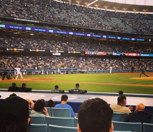 Dodger Stadium, section: Field Box MVP 20, rangée: C