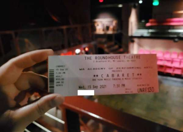 Roundhouse Theatre at the WAAPA, section: Benches, rangée: Unreserved, siège: Unreserved