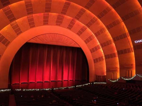 Radio City Music Hall, section: 1st Mezzanine 6, rangée: A, siège: 604
