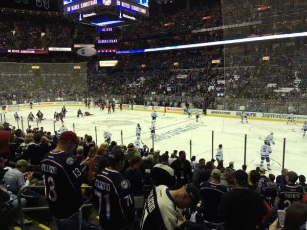 Nationwide Arena, section: 112, rangée: Q, siège: 14