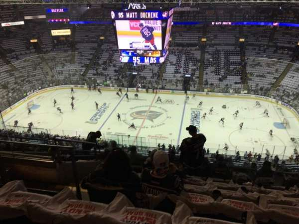 Nationwide Arena, section: 216, rangée: L, siège: 18