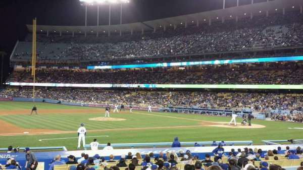 Dodger Stadium, section: 25FD, rangée: O, siège: 1