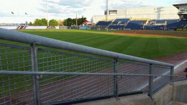 Richmond County Bank Ballpark, section: 1, rangée: F, siège: 19