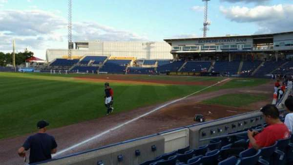 Richmond County Bank Ballpark, section: 1, rangée: F, siège: 11