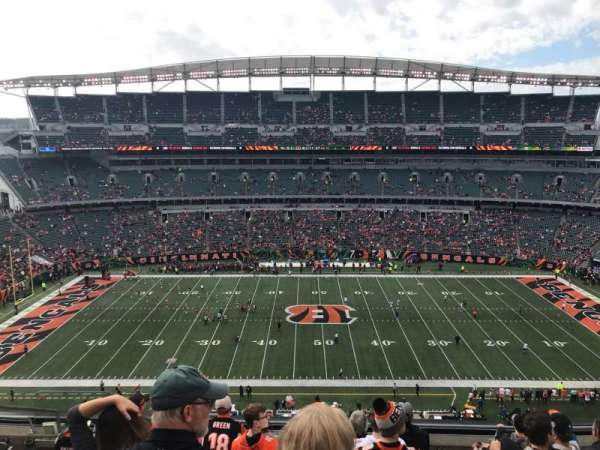 Paul Brown Stadium, section: 340, rangée: 8, siège: 17