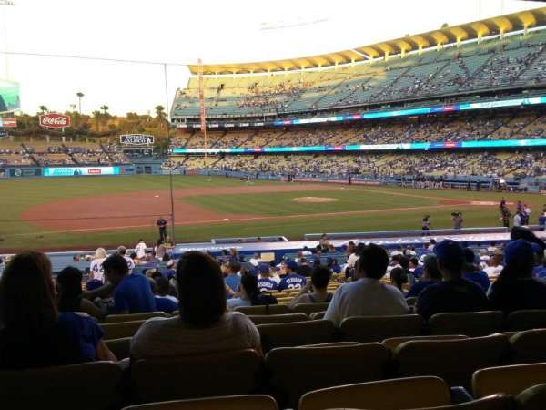 Dodger Stadium, section: 25FD, rangée: W, siège: 6