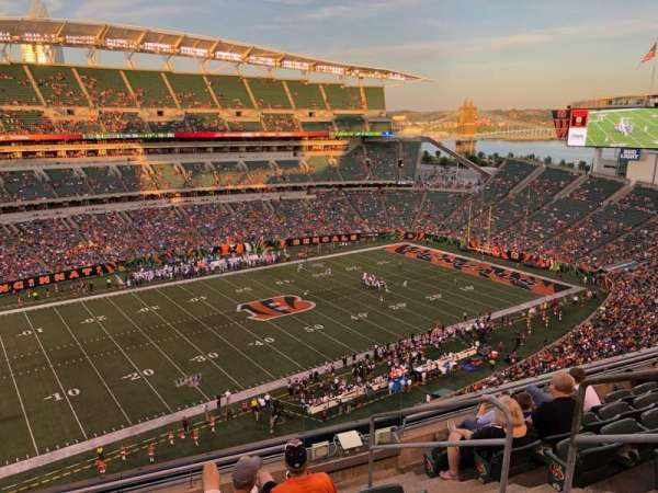 Paul Brown Stadium, section: 314, rangée: 7, siège: 1