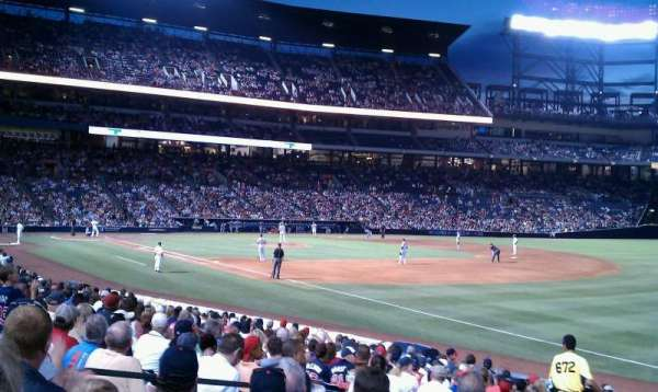 Turner Field, section: 119, rangée: 25