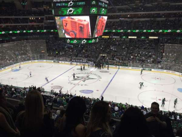 American Airlines Center, section: 208, rangée: H, siège: 3