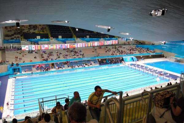 London Aquatics Centre, section: 313, rangée: 21, siège: 162
