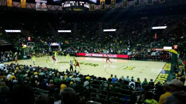 Ferrell Center, section: 123, rangée: 12, siège: 3