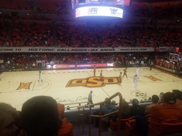 Gallagher-Iba Arena, section: 204, rangée: 7, siège: 1