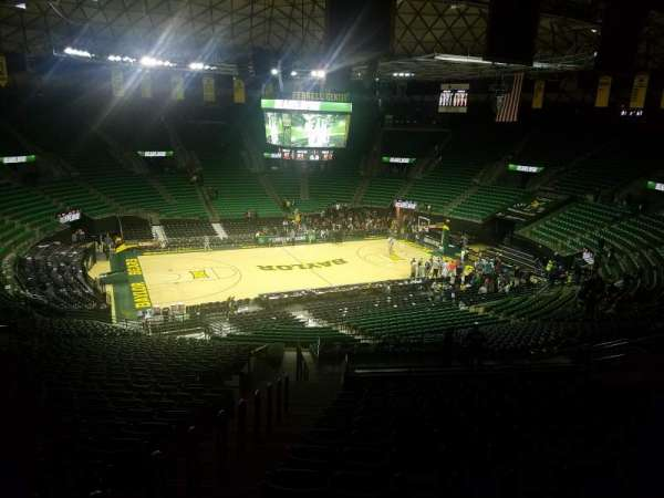 Ferrell Center, section: 114, rangée: 34, siège: 21