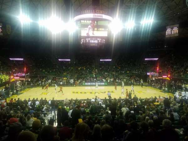 Ferrell Center, section: 113, rangée: 14, siège: 10