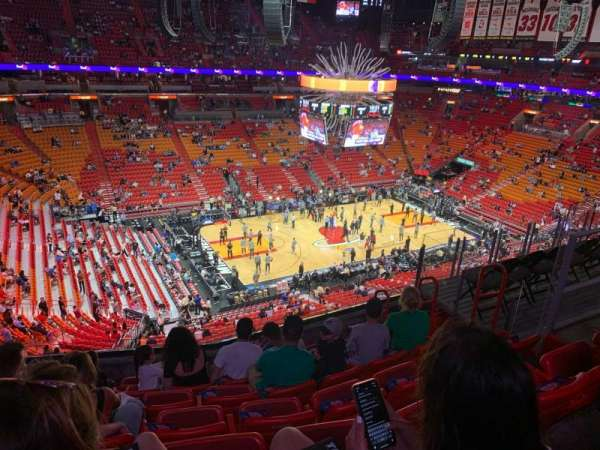 American Airlines Arena, section: 311, rangée: 7, siège: 8