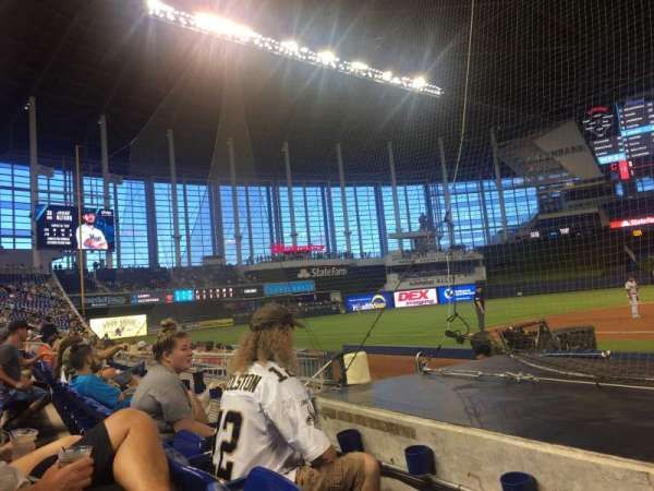 Marlins Park, section: 21, rangée: B, siège: 1