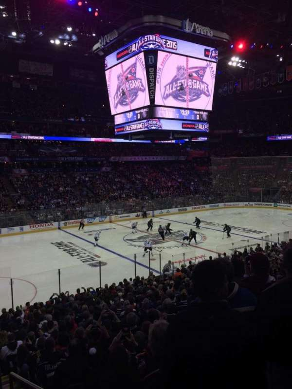 Nationwide Arena, section: 106, rangée: X, siège: 1