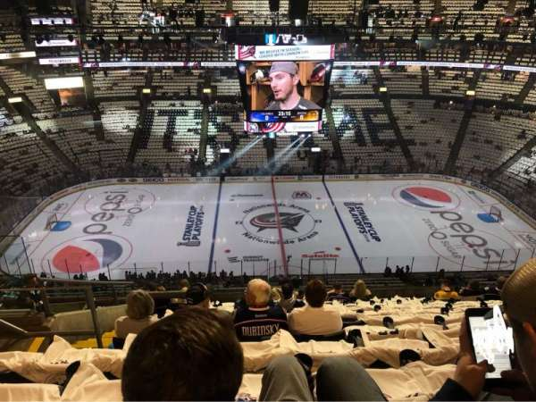 Nationwide Arena, section: 217, rangée: M, siège: 22