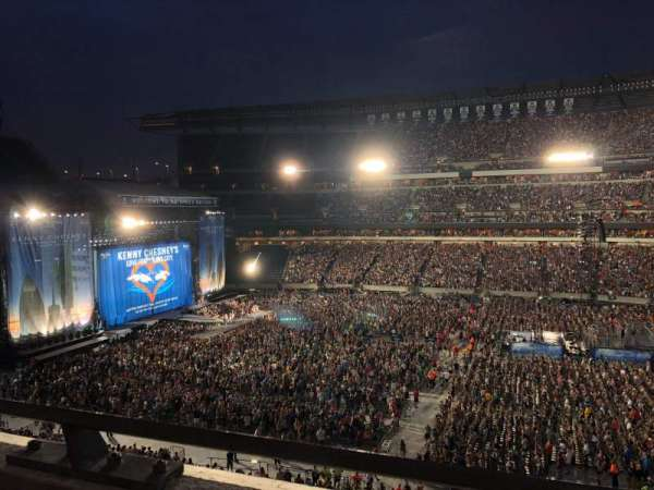 Lincoln Financial Field, section: C2, rangée: 1