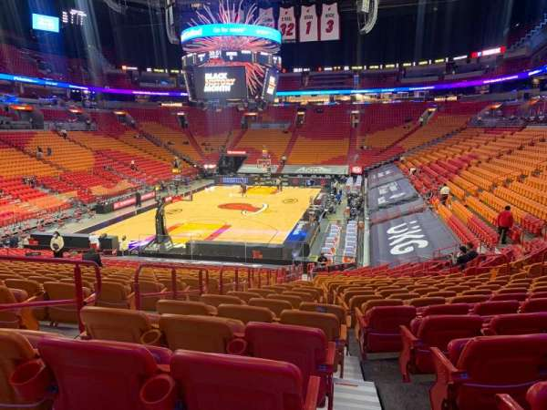 American Airlines Arena, section: 111, rangée: 27, siège: 17