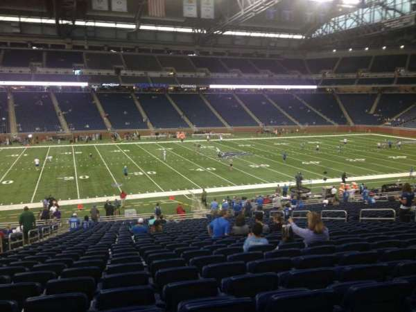 Ford Field, section: 104, rangée: 34, siège: 6