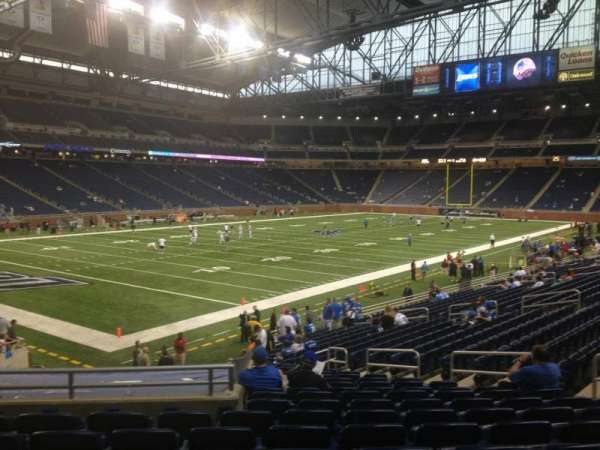 Ford Field, section: 100, rangée: 24, siège: 7