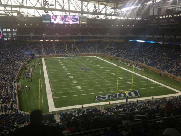 Ford Field, section: 316, rangée: 6, siège: 7