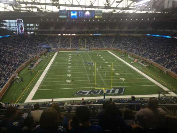 Ford Field, section: 317, rangée: 8, siège: 16