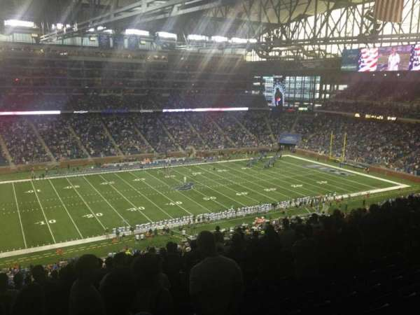 Ford Field, section: 328, rangée: 11, siège: 12