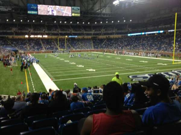Ford Field, section: 114, rangée: 21, siège: 11