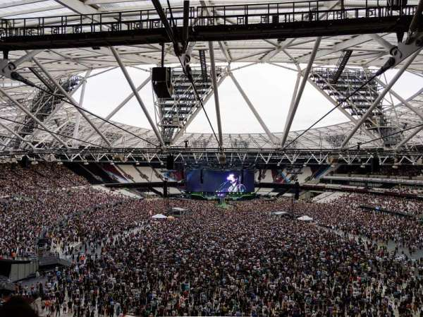 London Stadium, section: 249, rangée: 58, siège: 21