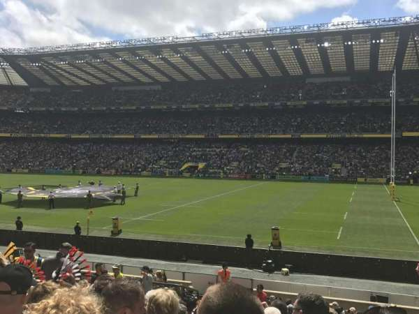 Twickenham Stadium, section: L22, rangée: 21, siège: 109