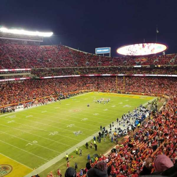Arrowhead Stadium, section: 307, rangée: 5, siège: 15