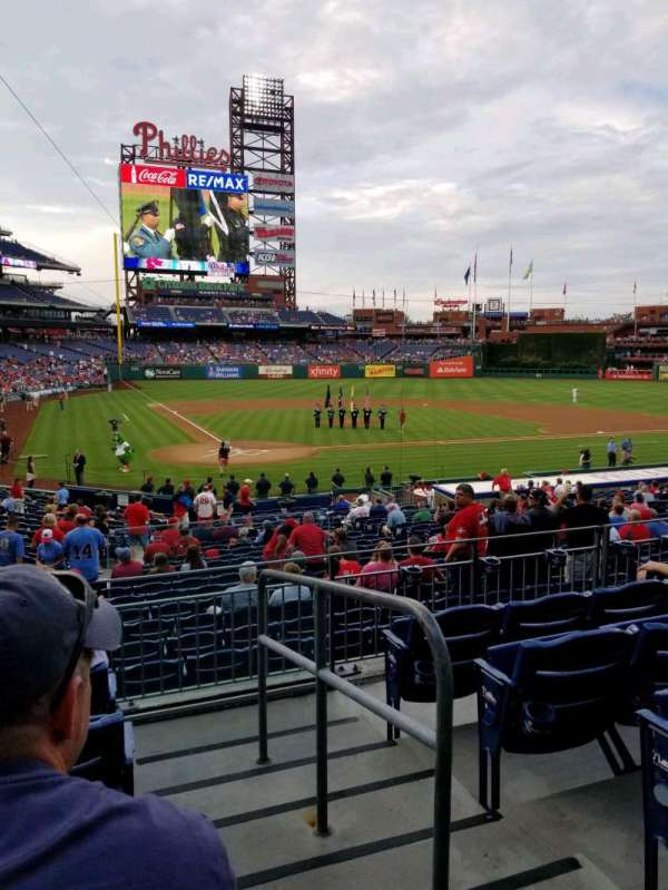 Citizens Bank Park, section: 121, rangée: 25, siège: 1
