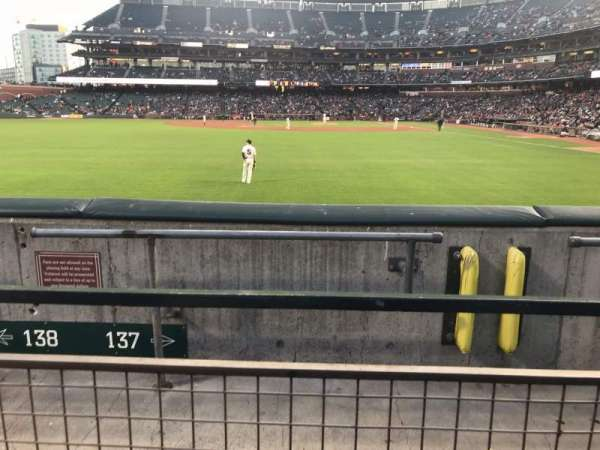 Oracle Park, section: PB137, rangée: 1, siège: 22