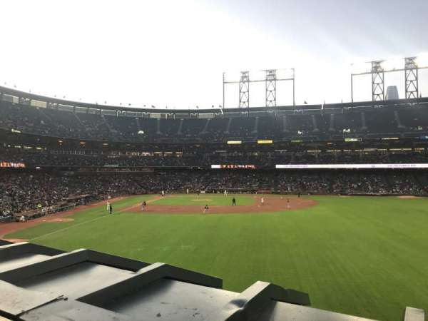 Oracle Park, section: 148, rangée: 1, siège: 7