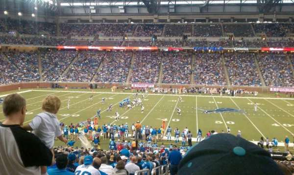 Ford Field, section: 107, rangée: 21, siège: 1