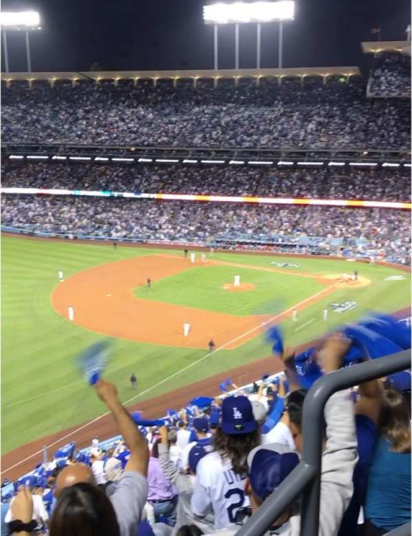 Dodger Stadium, section: 45RS, rangée: AA, siège: 3