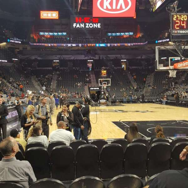 AT&T Center, section: 101, rangée: 7, siège: 6