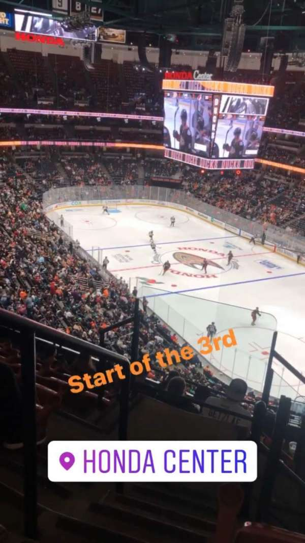 Honda Center, section: 405, rangée: H, siège: 12
