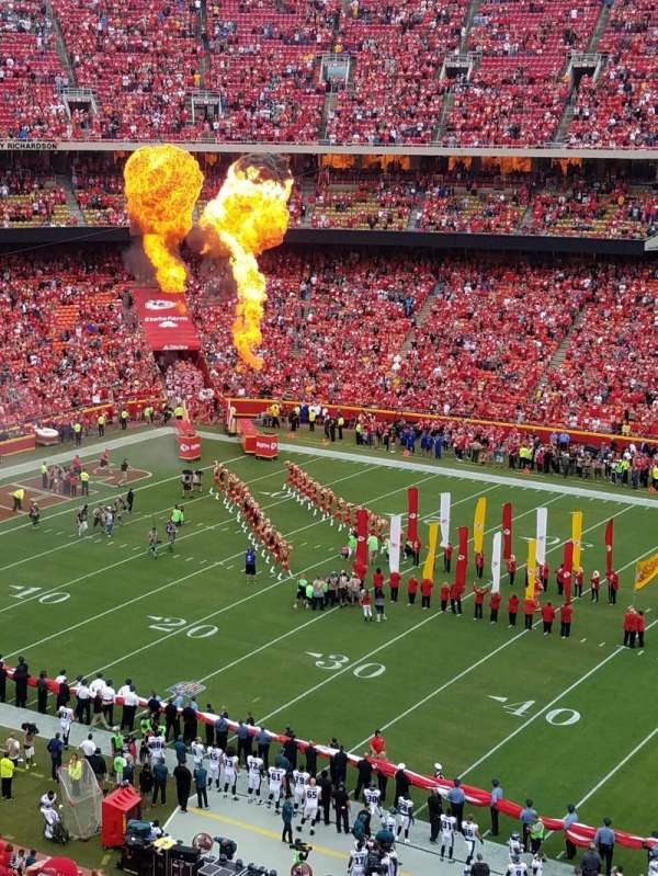 Arrowhead Stadium, section: 346, rangée: 8, siège: 5