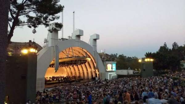 Hollywood Bowl, section: K3, rangée: 1, siège: 5