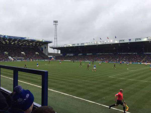 Fratton Park, section: MMD, rangée: BB, siège: 69