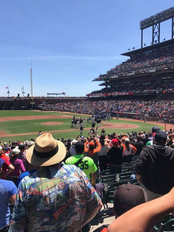Oracle Park, section: 124, rangée: 24, siège: 7