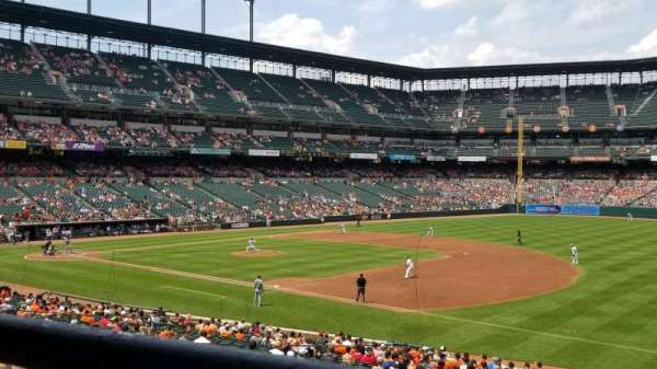 Oriole Park at Camden Yards, section: 13, rangée: 1, siège: 16