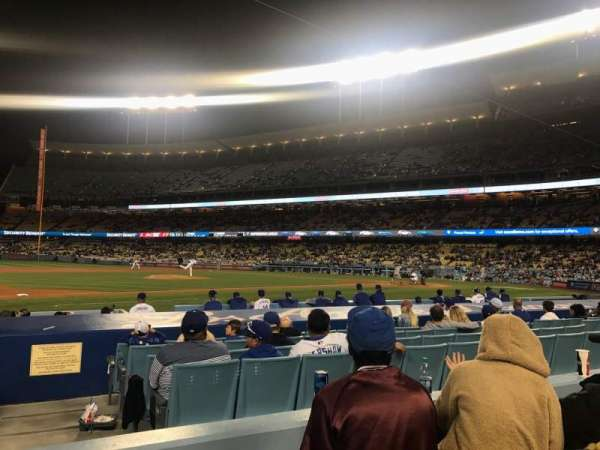 Dodger Stadium, section: 25FD, rangée: C, siège: 1