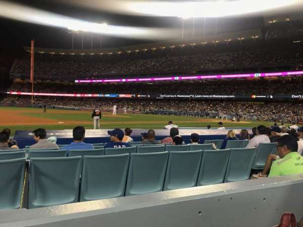 Dodger Stadium, section: 25FD, rangée: B, siège: 8